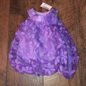 Purple Flower Dress 0-3 mos